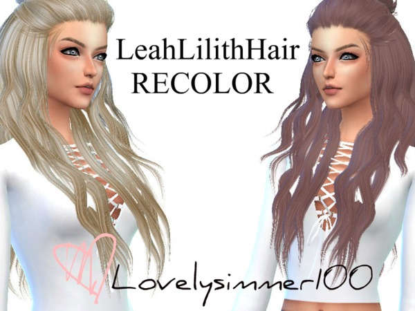 The Sims Resource: LeahLilith`s Natural hair recolred by Lovelysimmer100 for Sims 4