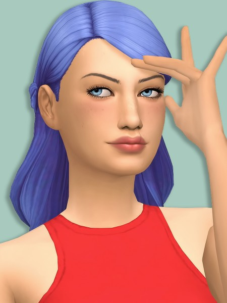 Simsworkshop: Simductions Bridesmaid Hair recolored by xDeadGirlWalking for Sims 4