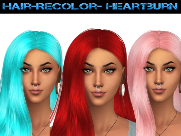 The Sims Resource: Heartburn Hair recolored by Naddiswelt for Sims 4
