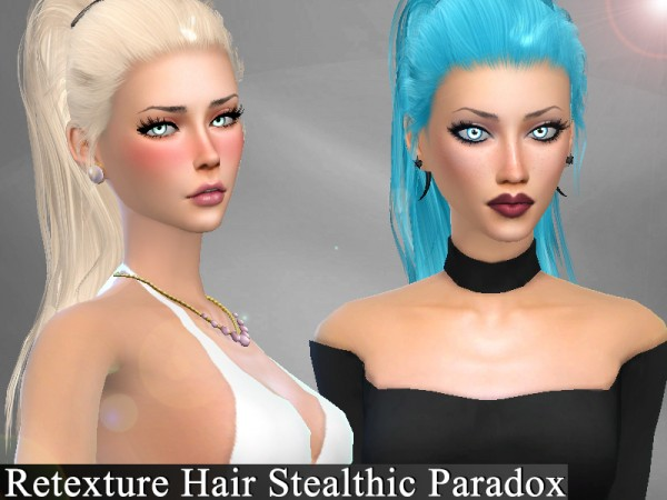 The Sims Resource: Stealthic`s Paradox Hair Retextured by Genius666 for Sims 4