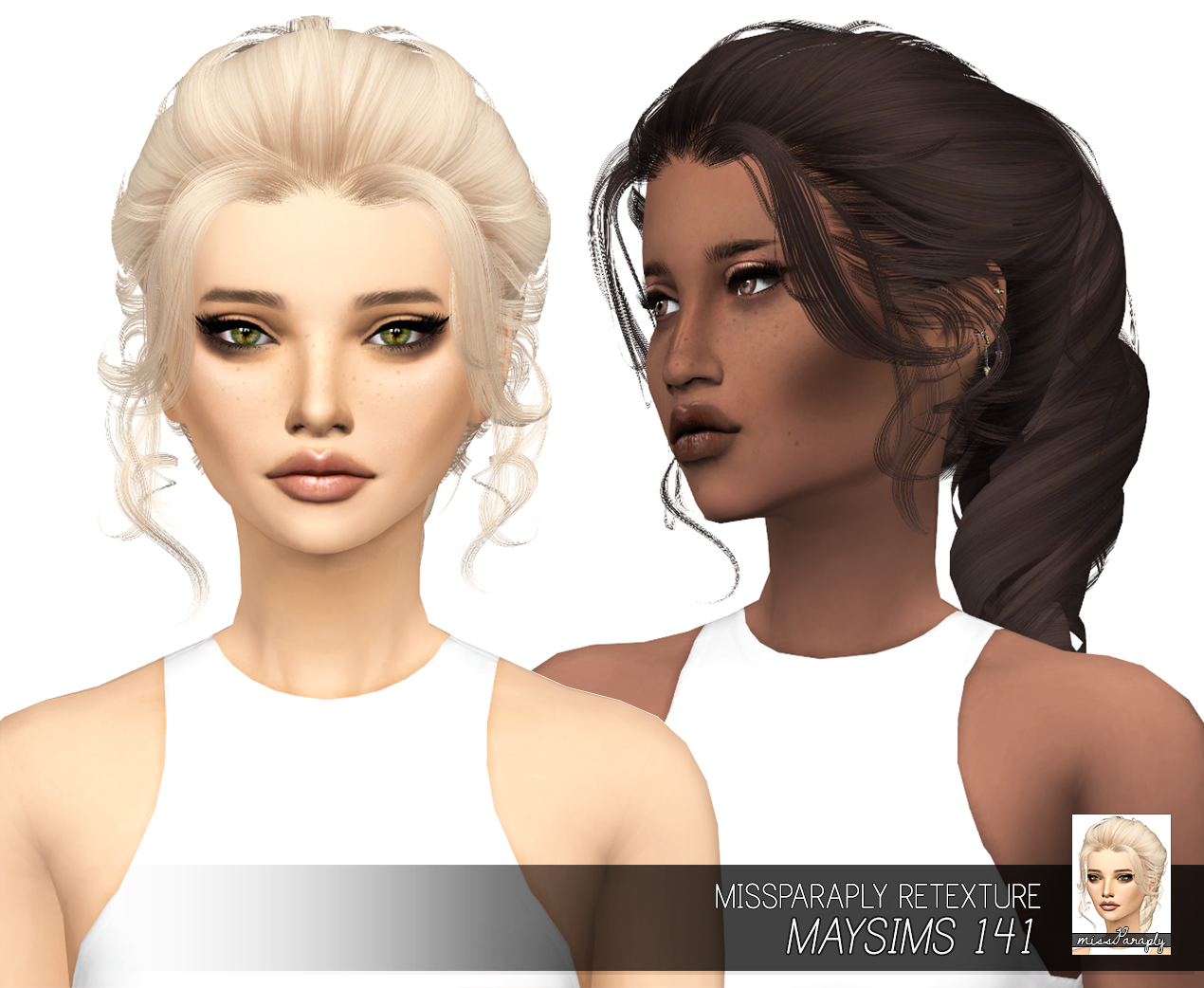 Sims 4 Hairs Miss Paraply May S 141 Hair Retextured