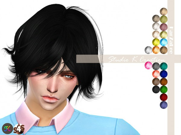 Studio K Creation: Animate hair Takki 50 Takki for Sims 4
