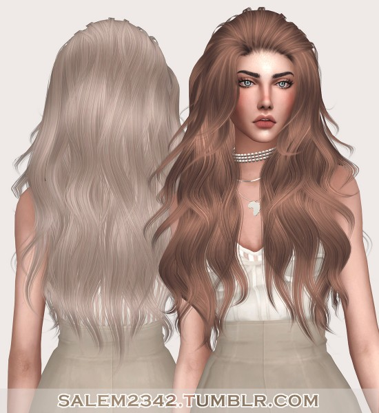 Salem2342: Anto`s Smoke Hair Retextured for Sims 4