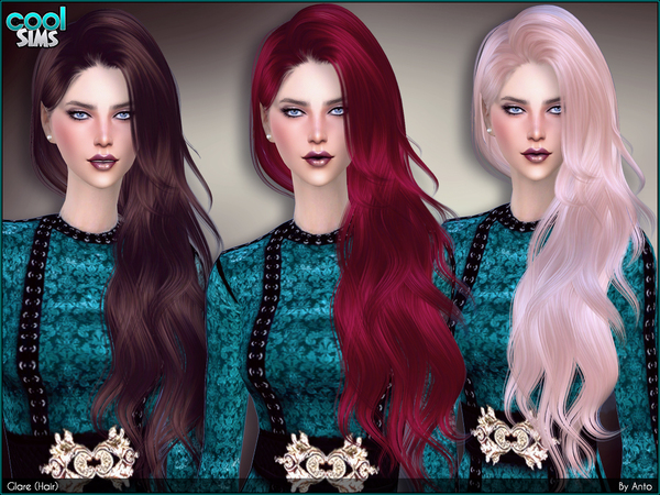 Sims 4 Hairs The Sims Resource Glare Hair By Anto