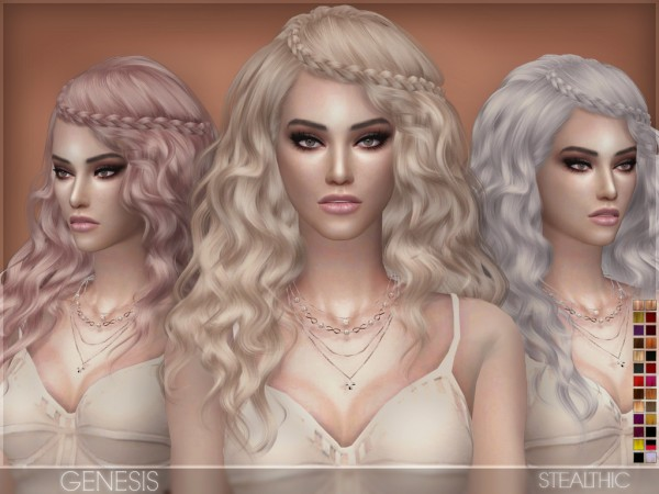 Stealthic: Genesis hair for Sims 4