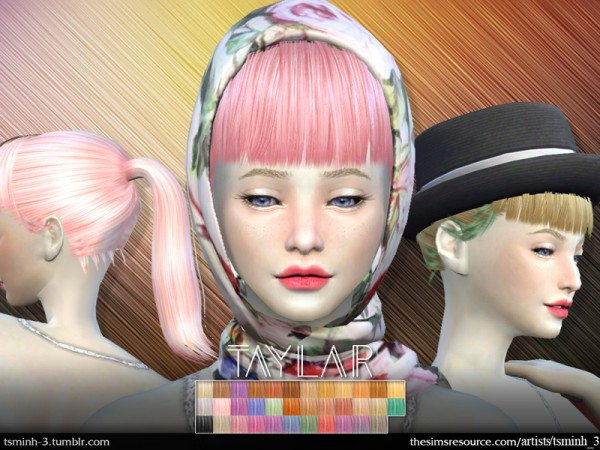 The Sims Resource: Taylar | Hairstyle 5 for Sims 4