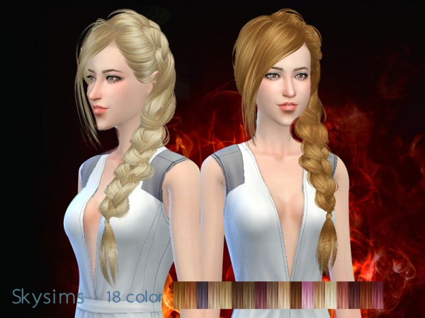 Butterflysims: Hair 286 by Skysims for Sims 4