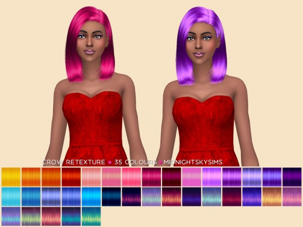 The Sims Resource: Crow Unnatural Retextured by midnightskysims for Sims 4