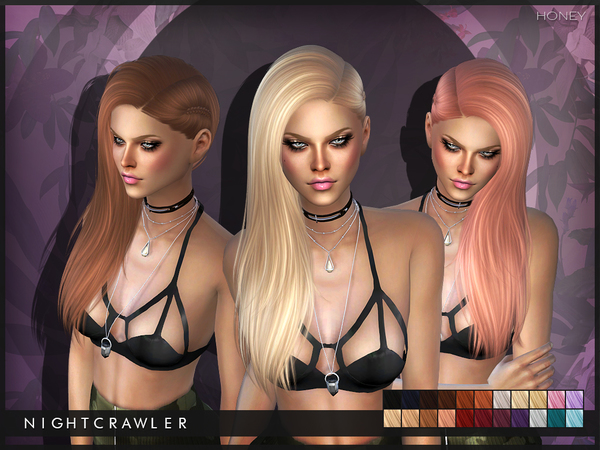 The Sims Resource: Honey hair by Nightcrawler  for Sims 4