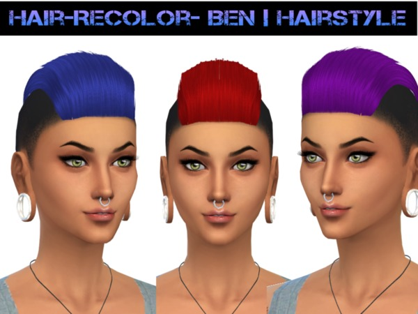 The Sims Resource: Ben Hairstyle 4 for Sims 4