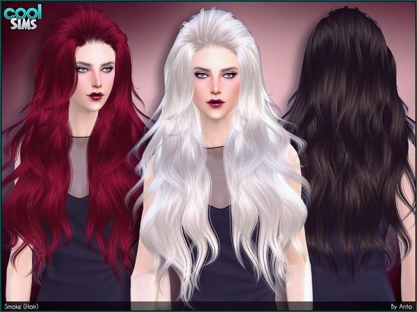 The Sims Resource: Anto   Smoke Hair for Sims 4