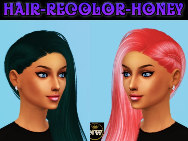 The Sims Resource: Nightcrawler`s Honey hair recolored by Naddiswelt for Sims 4