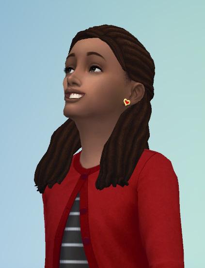 Birksches sims blog: Dreads Halfup hair for Sims 4