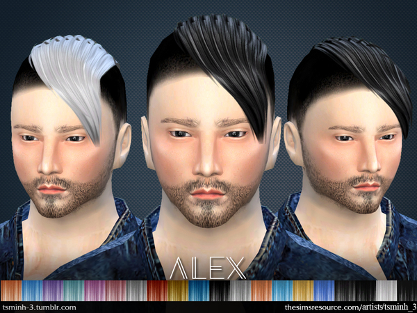 The Sims Resource: Alex hair by tsminh 3 for Sims 4