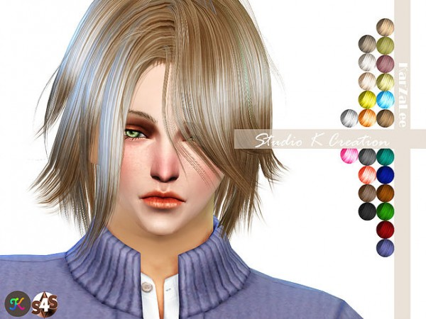 Studio K Creation: Animate hair 51   Kurosaki for Sims 4