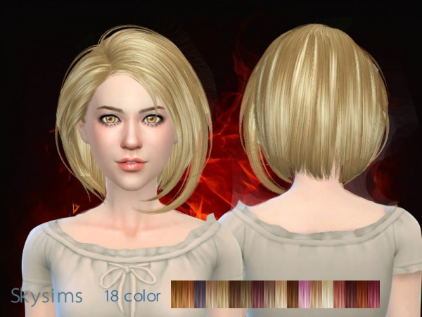 Butterflysims: Skysims 021hair for Sims 4