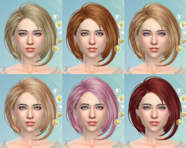 Butterflysims: Skysims 021hair for Sims 4