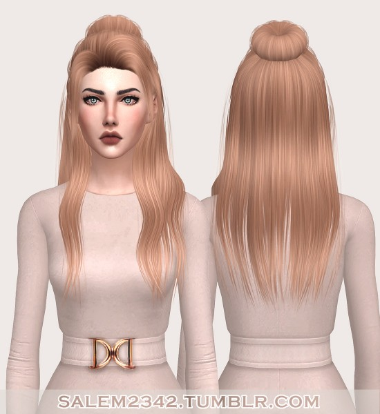 Salem2342: Anto`s Sinti Hair unnatural color retextured for Sims 4