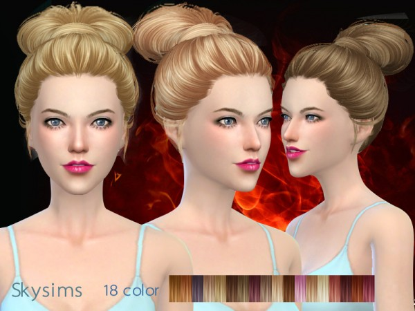 Butterflysims: Hair 164 for Sims 4