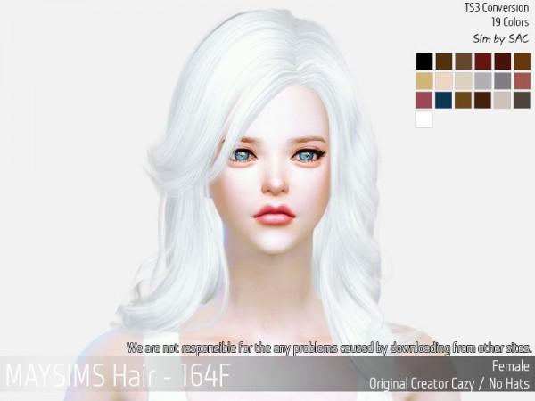 MAY Sims: May Hair 164F retextured for Sims 4