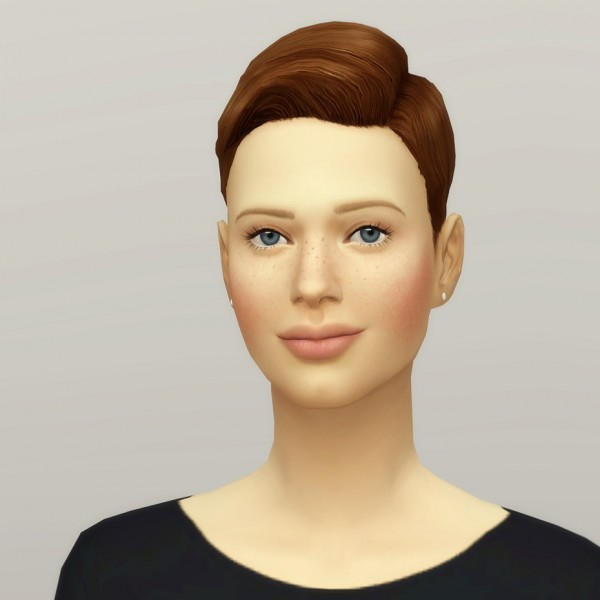 Rusty Nail: Short combed hair F for Sims 4