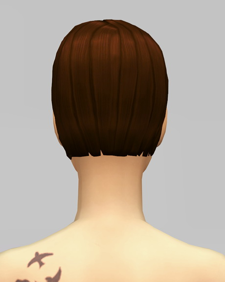 Rusty Nail: Med clipped back hair for Sims 4