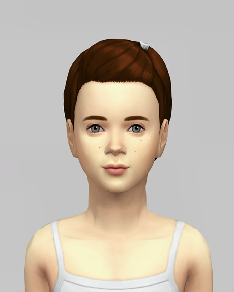 Rusty Nail: Med clipped back hair for girls for Sims 4