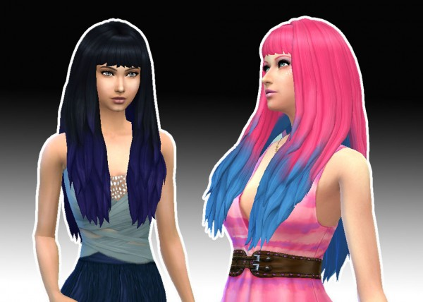 Mystufforigin: Long dipped color for Sims 4