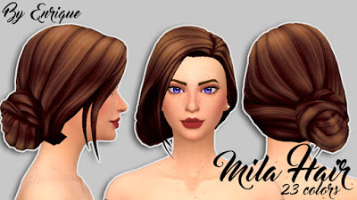 Enrique: Mila Hair for Sims 4