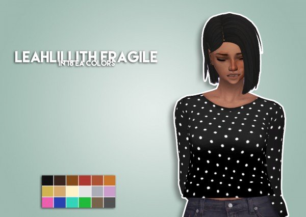 The Plumbob Architect: LeahLillith Fragile hair recolored for Sims 4