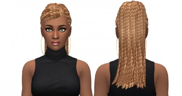 Leelee Sims: Bangin' Ponytail hair for Sims 4