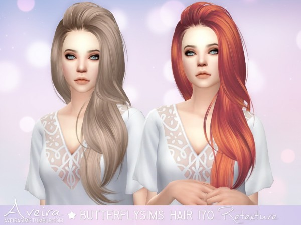 Aveira Sims 4: Butterfly`s 170, Newsea`s Evergreen and Vera, Stealthic Reprise hairs retextured for Sims 4