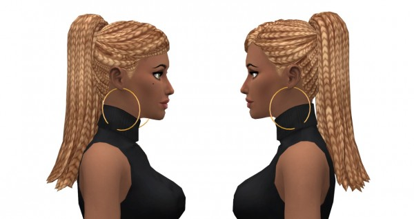 Leelee Sims: Bangin' Ponytail hair for Sims 4