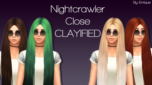 Enrique: Nightcrawler`s  Close hair retextured for Sims 4
