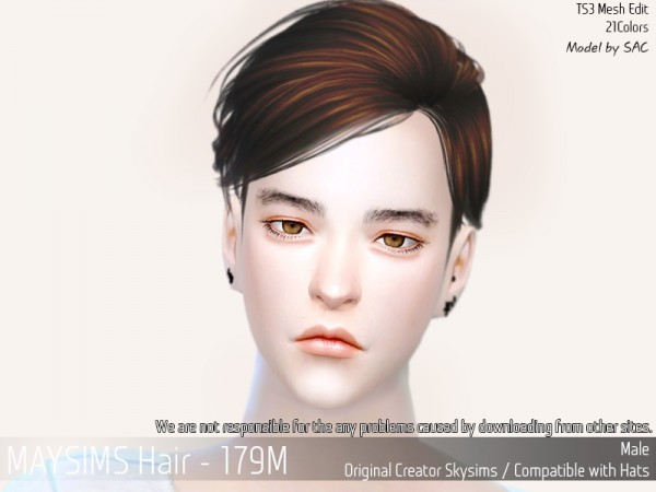 MAY Sims: May Hair 179 M for Sims 4