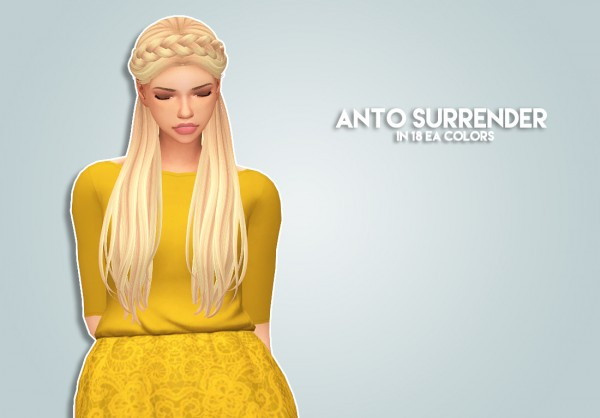 The Plumbob Architect: Anto Surrender hair recolored for Sims 4