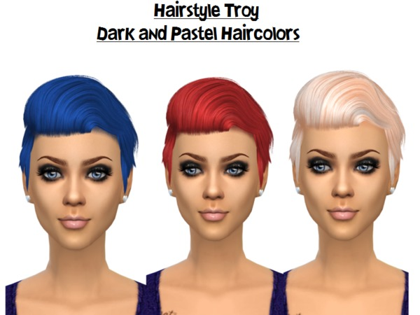 The Sims Resource: TROY   Hair 6 reclored by Naddiswelt for Sims 4