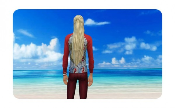 Birksches sims blog: Impossible Long Dreads for him for Sims 4