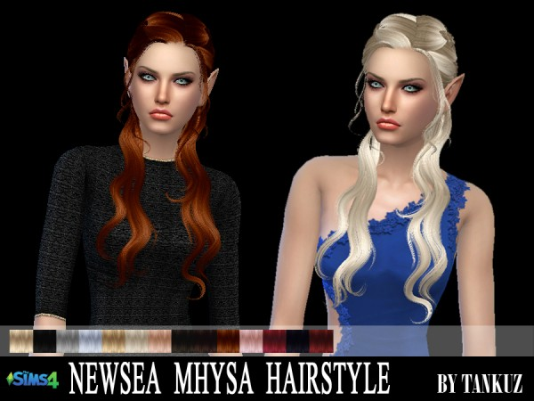 Tankuz: Newsea`s J214 Mhysa hair retextured for Sims 4