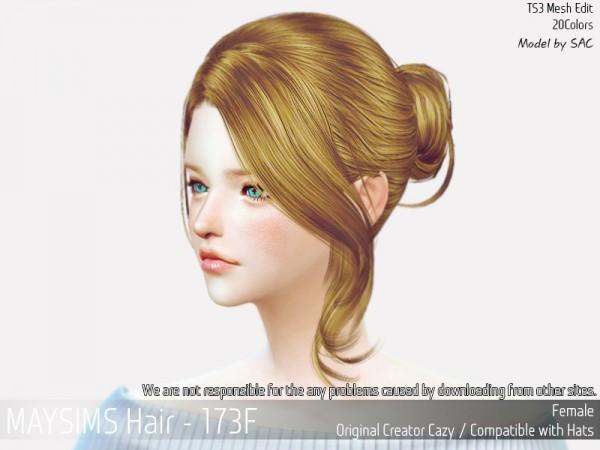MAY Sims: May 173F hair retextured for Sims 4