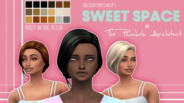The Plumbob Architect: Sweet Space hair for Sims 4
