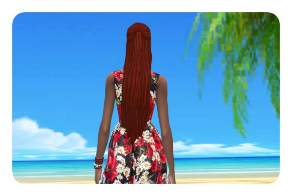 Birksches sims blog: Impossible Long Dreads for her for Sims 4