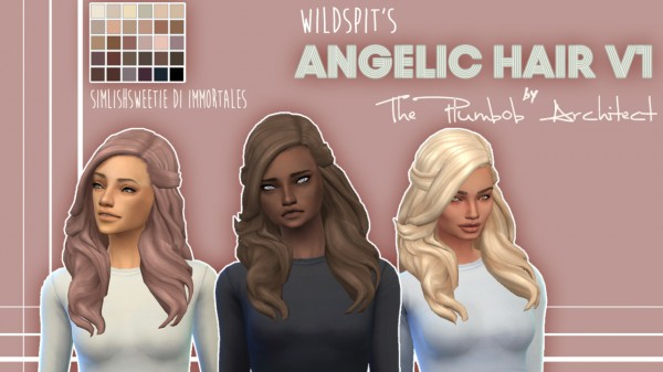 The Plumbob Architect: Angelic Hair V1 for Sims 4