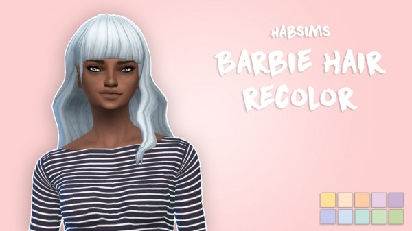 The Plumbob Architect: Barbie hair   10 pastel recolors for Sims 4