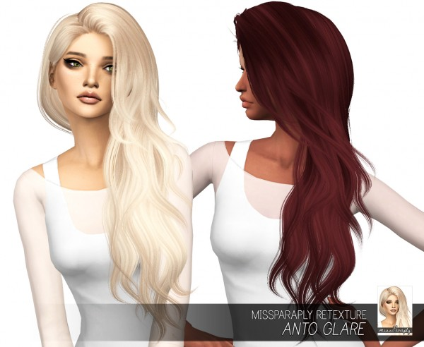Miss Paraply: Anto`s Glare hair retextured for Sims 4