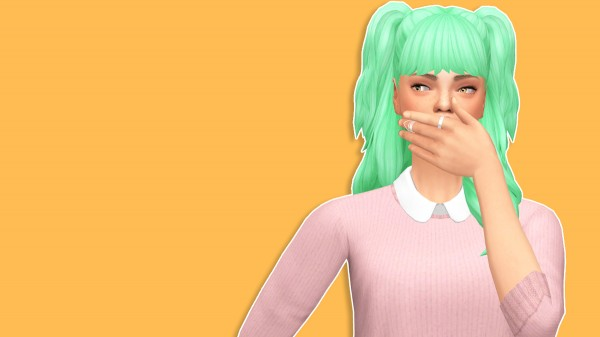 The Plumbob Architect: Floppy Bunny Ears hair recolored for Sims 4