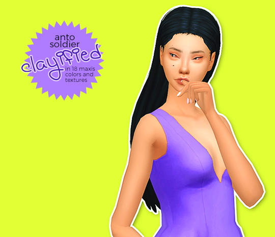 Hab Sims: Simpliciaty Clayfied hairs for Sims 4