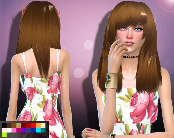 Genius6613: Amelia hair for Sims 4