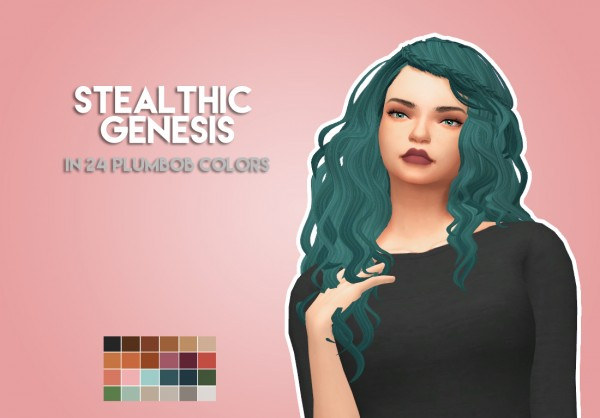 The Plumbob Architect: Stealthic's Genesis Hair relored for Sims 4