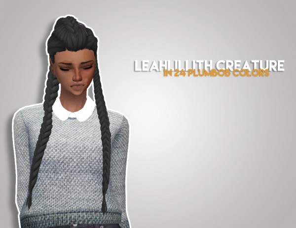 The Plumbob Architect: LeahLillith`s Creature hair recolored for Sims 4